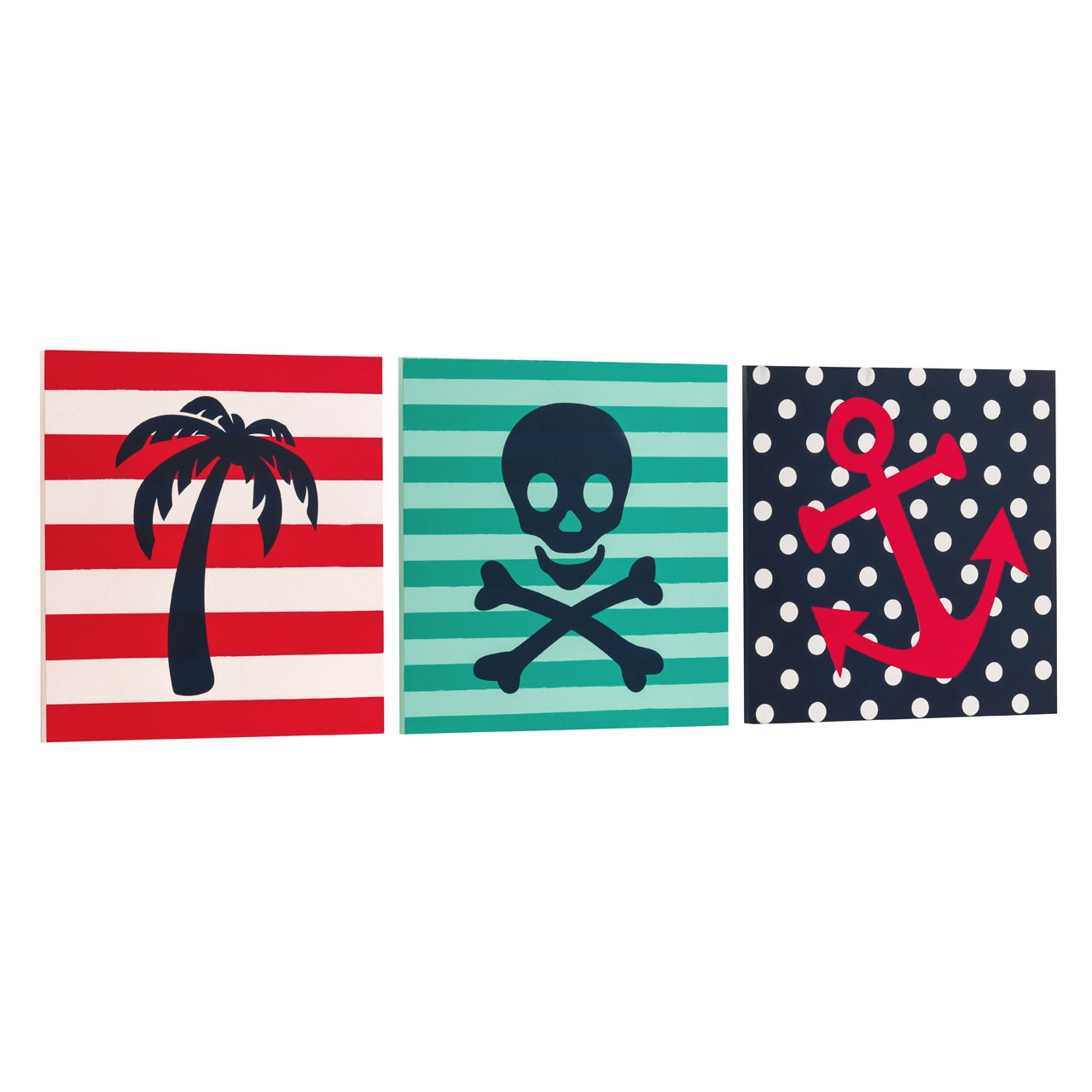 Pirate Wall Plaque 3 Assorted