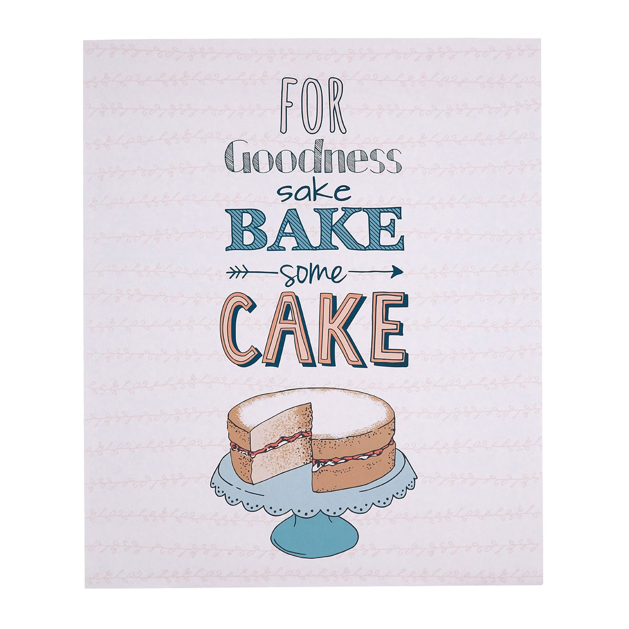 "Prime Furnishing Pretty Things ""Bake Some Cake"" Wall Plaque"