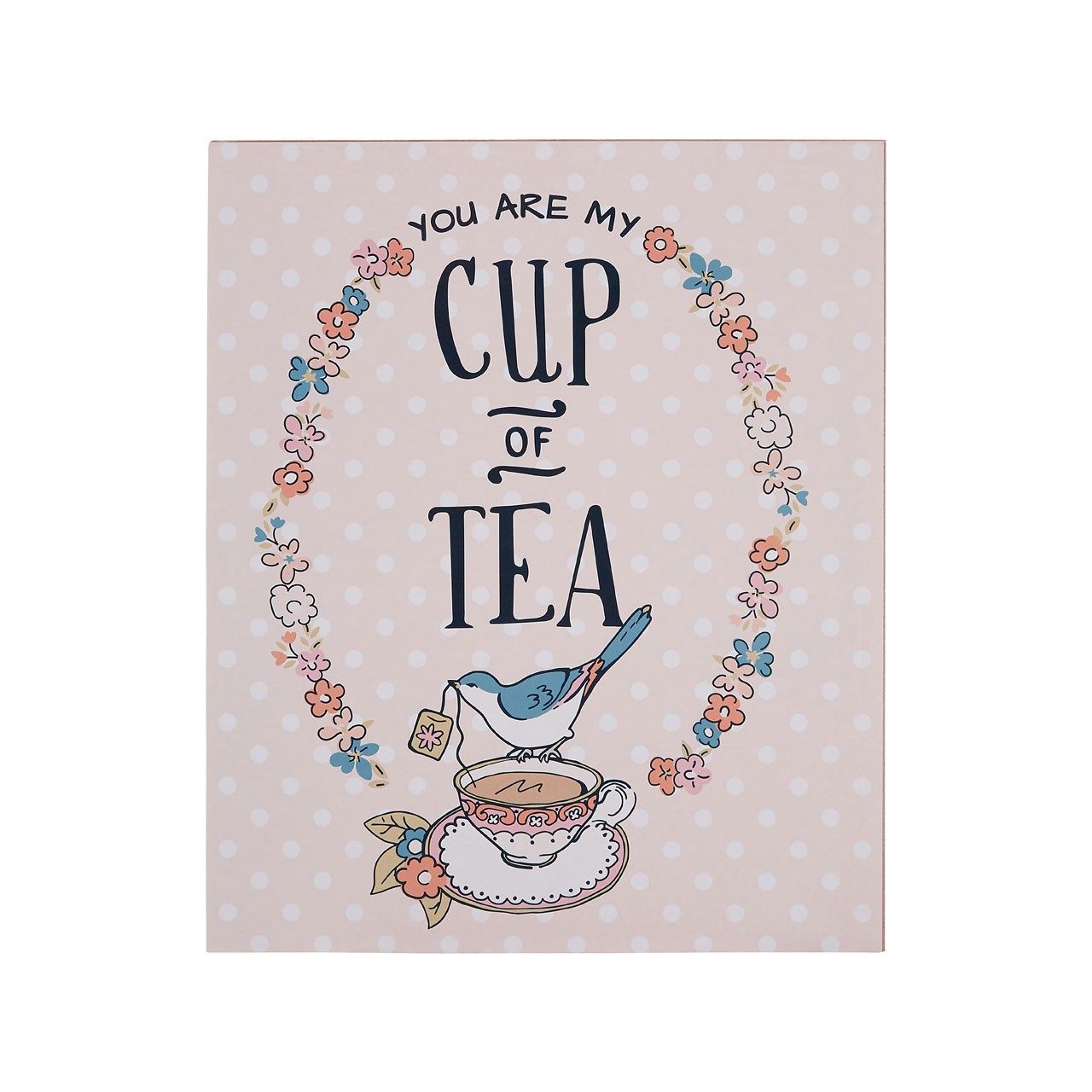 "Prime Furnishing Pretty Things ""Cup of Tea"" Wall Plaque"