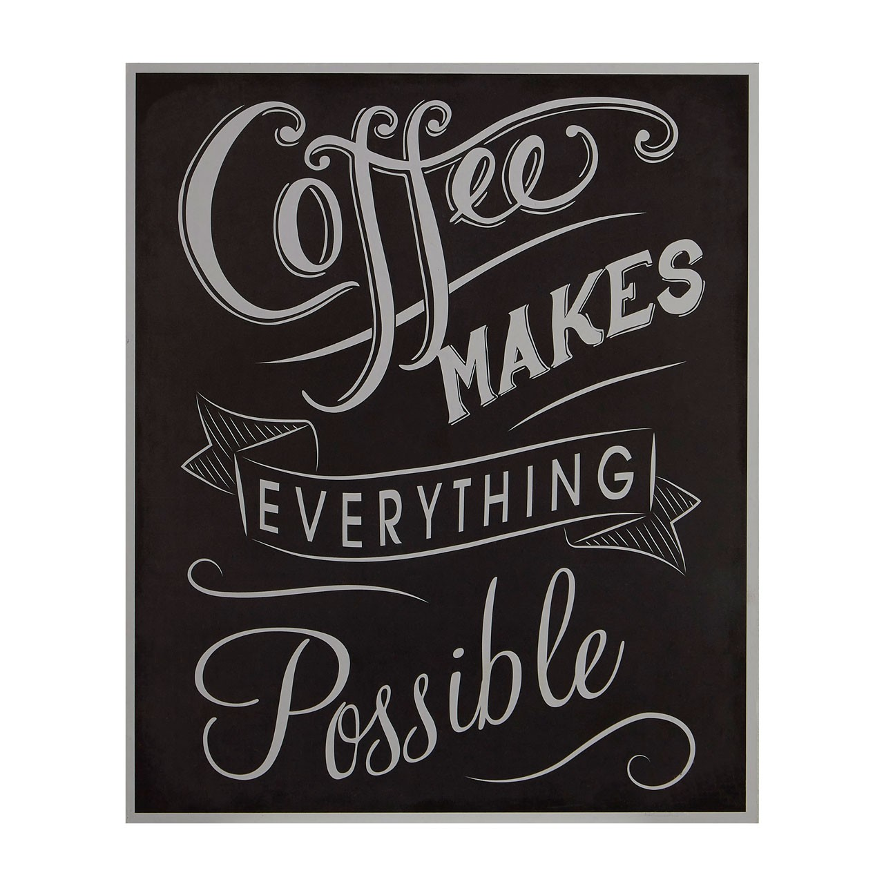 "Prime Furnishing ""Coffee Makes Everything Possible"" Wall Plaque"
