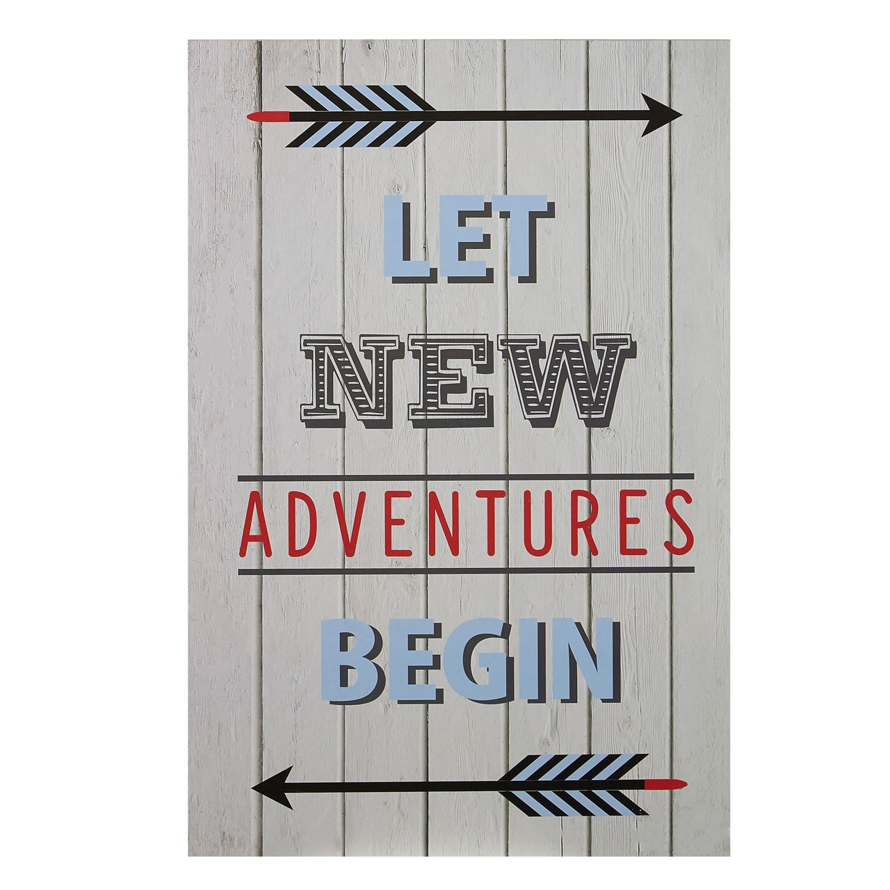 "Prime Furnishing ""Kid's Let New Adventures Begin"" Wall Plaque"