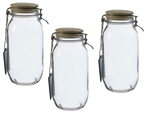 Set of 3 Grocer Large Storage Jar for Home Kitchen
