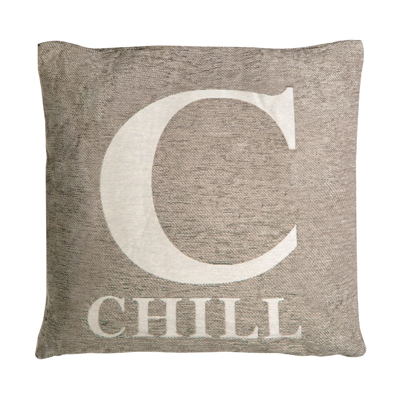 "Prime Furnishing ""Chill"" Chenille Cushion, Natural"
