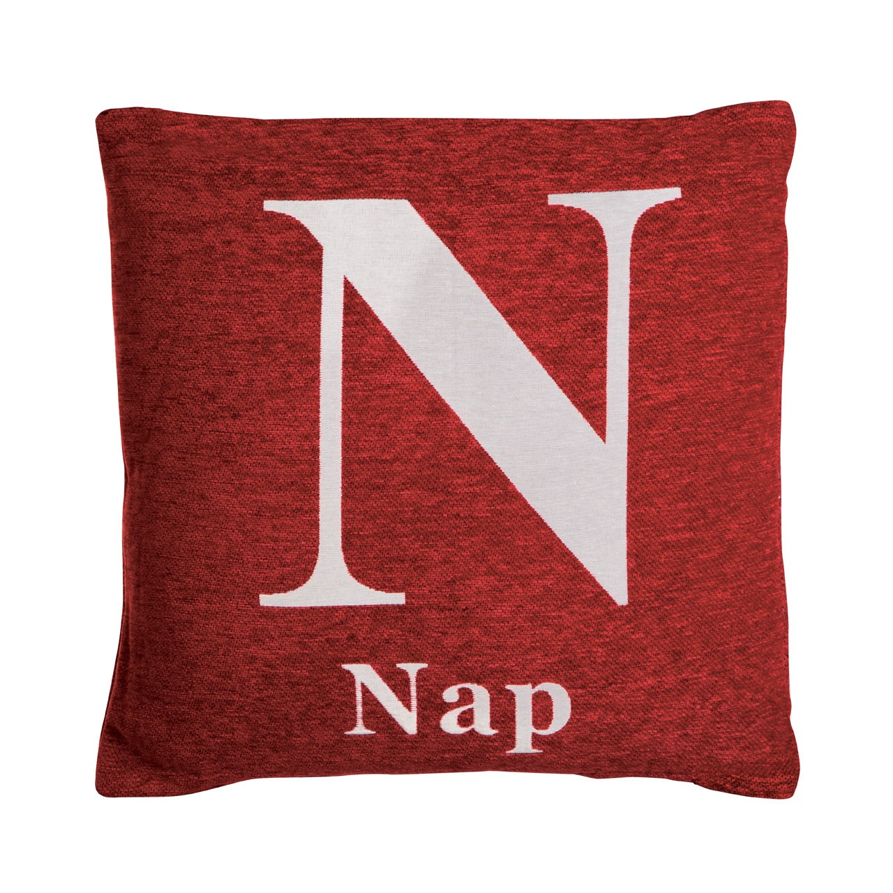"Prime Furnishing ""Nap"" Chenille Cushion, Red"