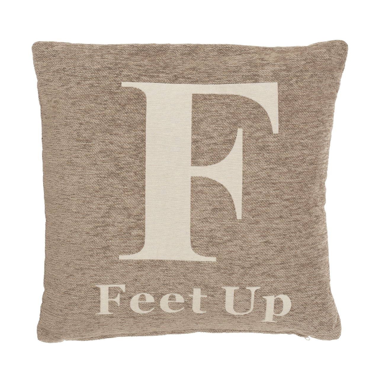 "Prime Furnishing ""Feet Up"" Chenille Cushion - Natural"