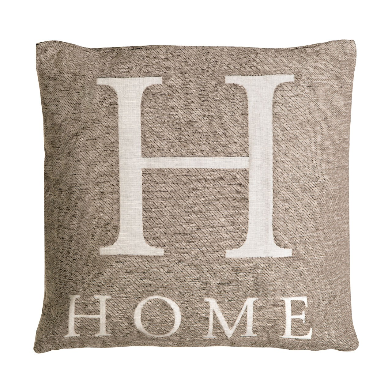 "Prime Furnishing ""Home"" Chenille Cushion - Natural"
