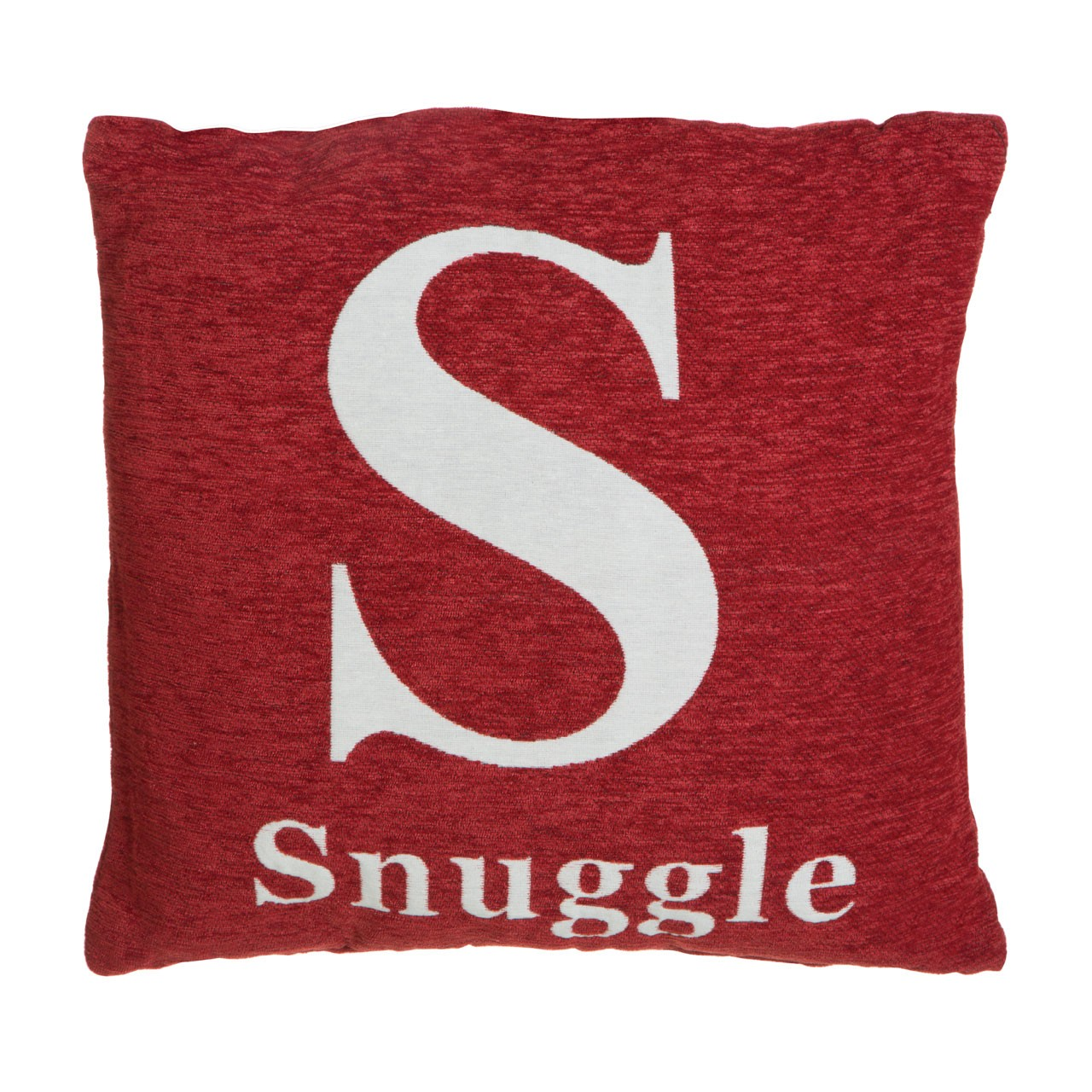 "Prime Furnishing ""Snuggle"" Chenille Cushion - Red"
