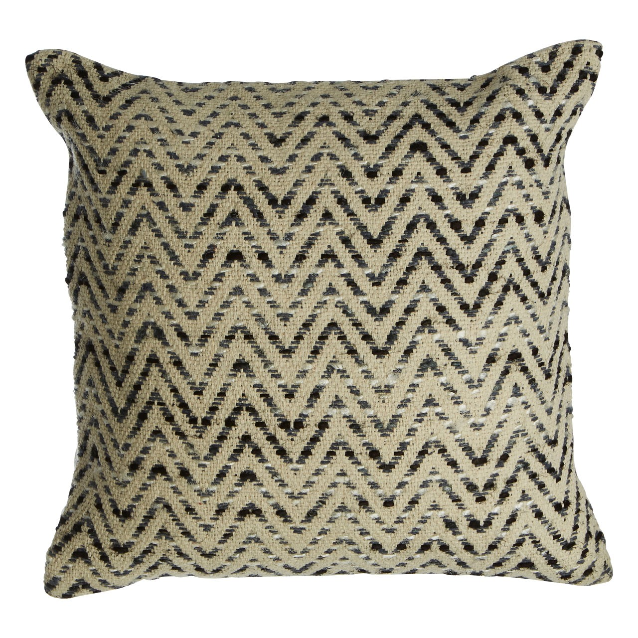 Prime Furnishing Bosie woven Chevron Cushion - Grey