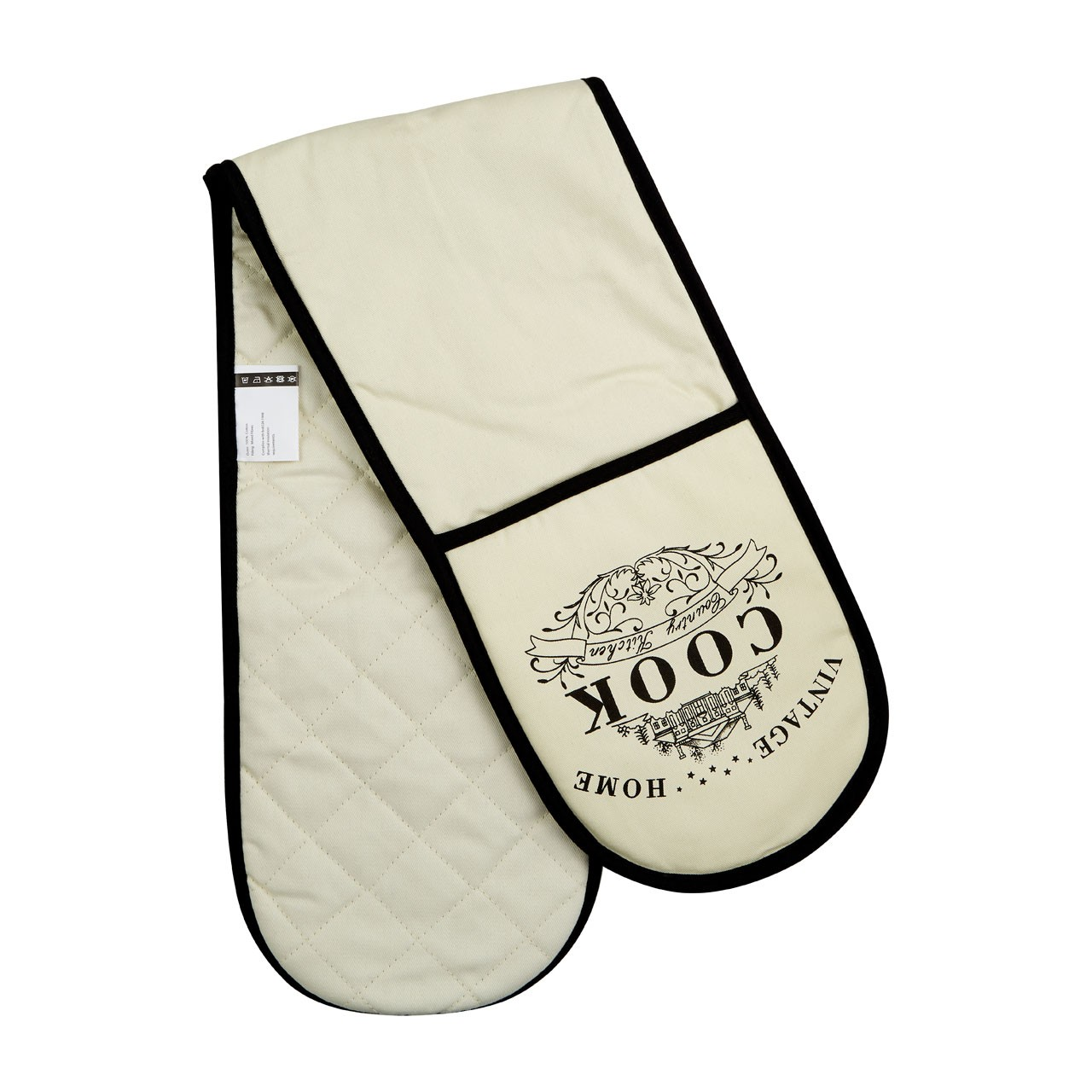 Vintage Home Double Oven Glove - Cream