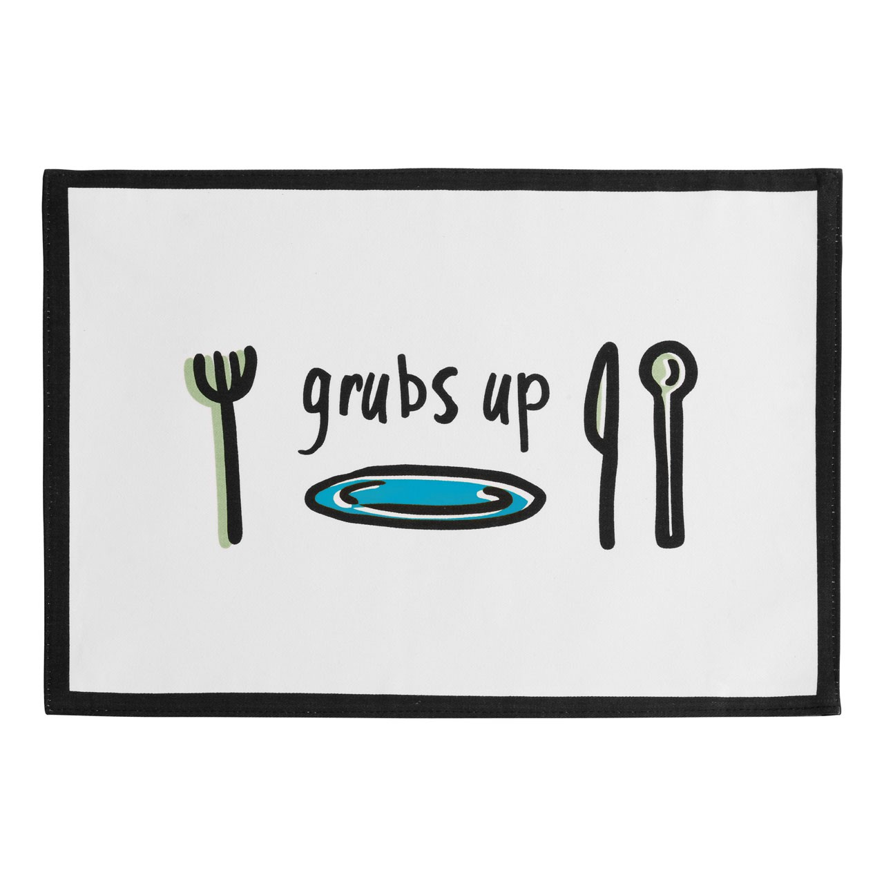 Doodle Placemats - Set of 4, 100% Cotton