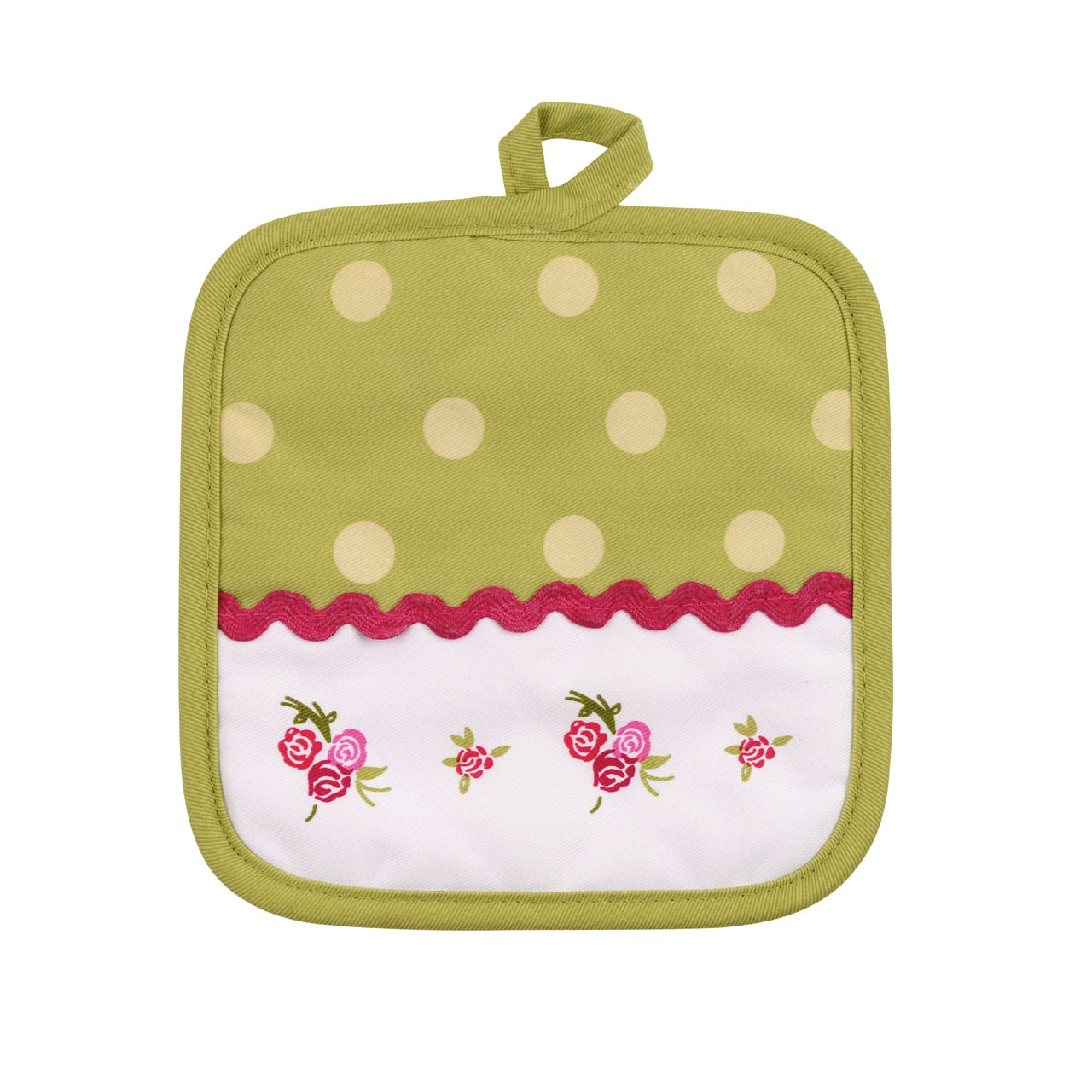 Cotton Rose Cottage Pot Holder