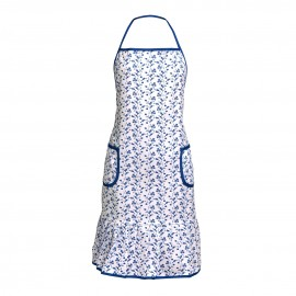 Prime Furnishing Blue Rose Apron 100% Cotton