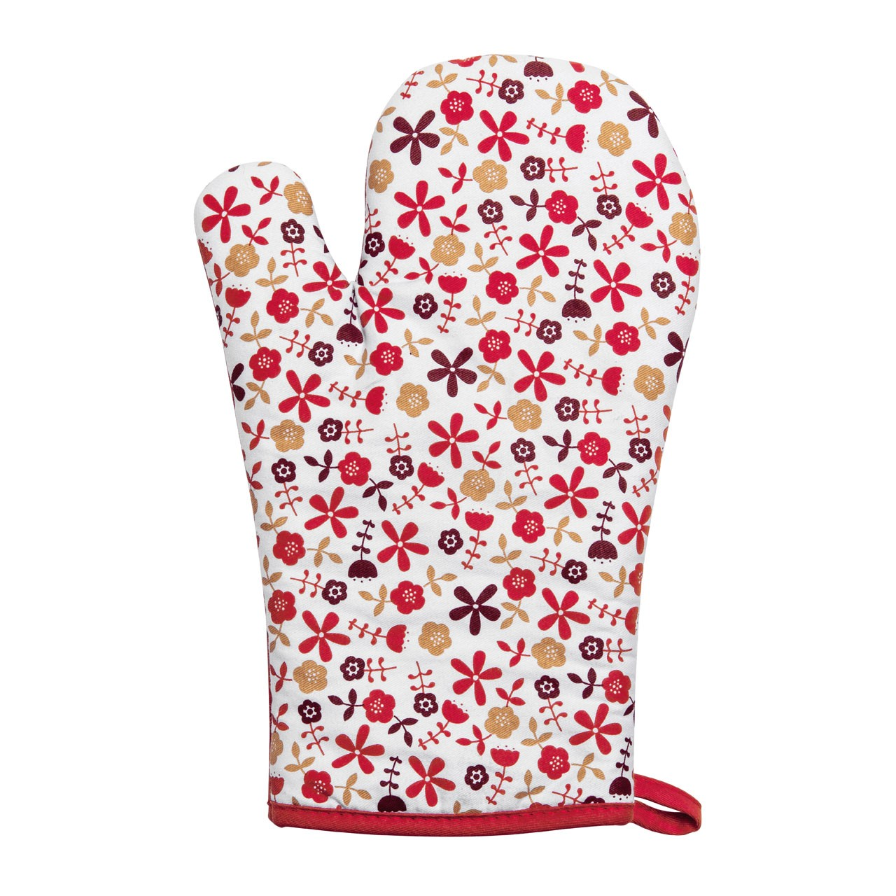 Daisy Single Oven Glove - Red