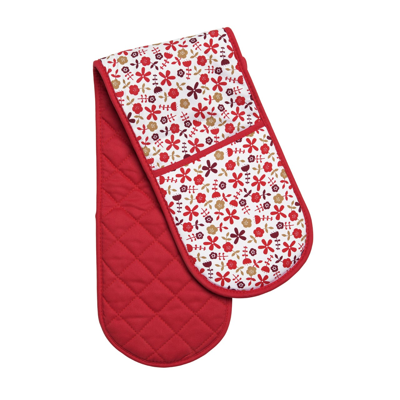 Daisy Double Oven Glove - Red