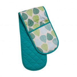 Prime Furnishing Green Leaf Double Oven Glove
