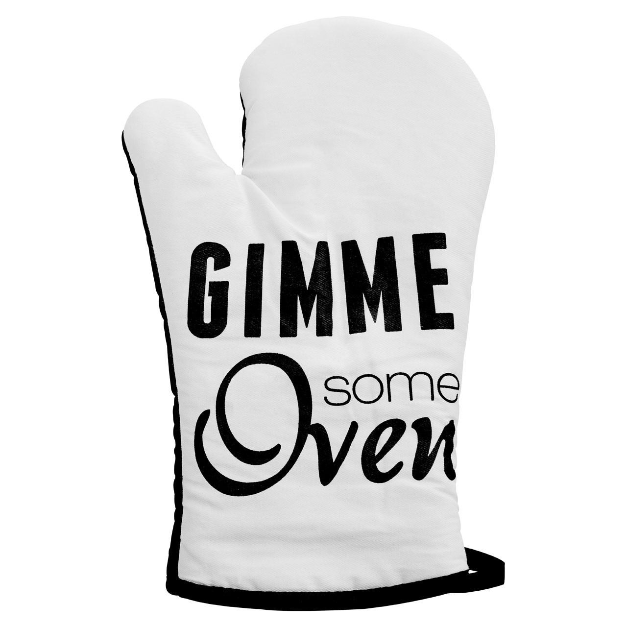 Prime Furnishing Pun and Games Single Oven Glove - White/Black
