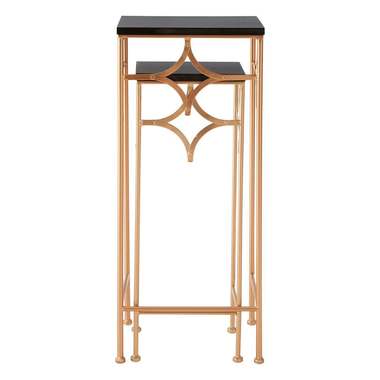 Prime Furnishing Lexa Plant Stands - Gold - Set Of 2