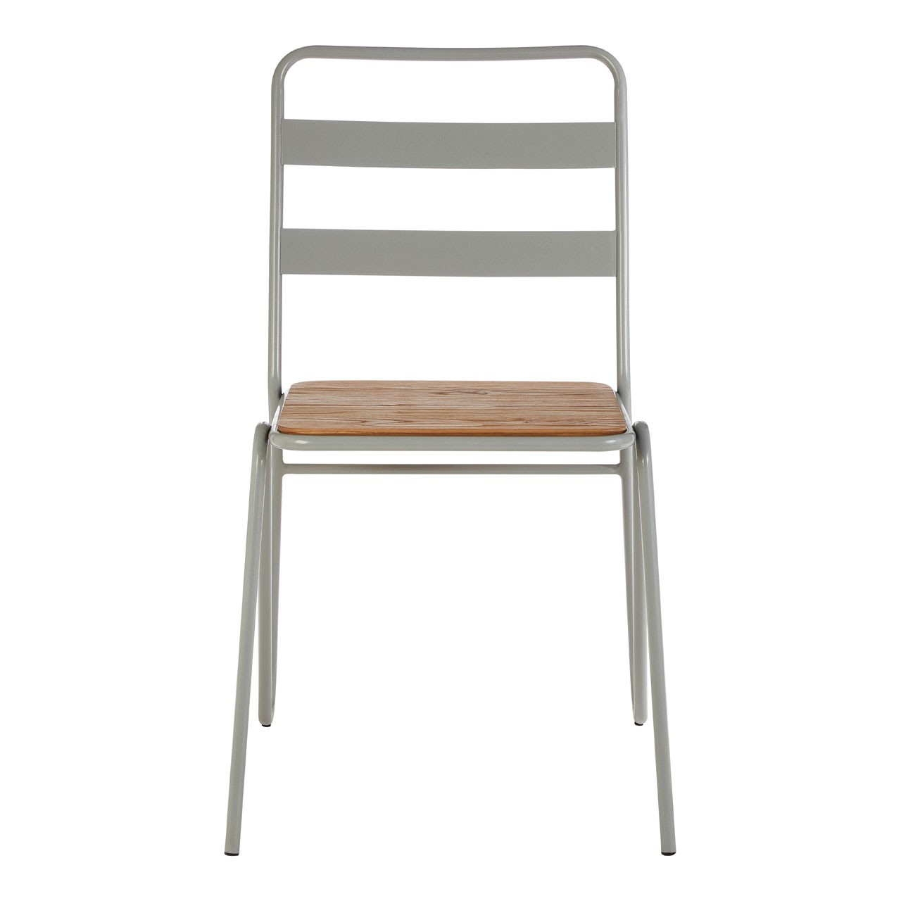 District Grey Metal And Elm Wood Chair New York Loft-inspired Pi