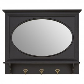 Whitley Wall Mirror Stylish And Functional Black Finish