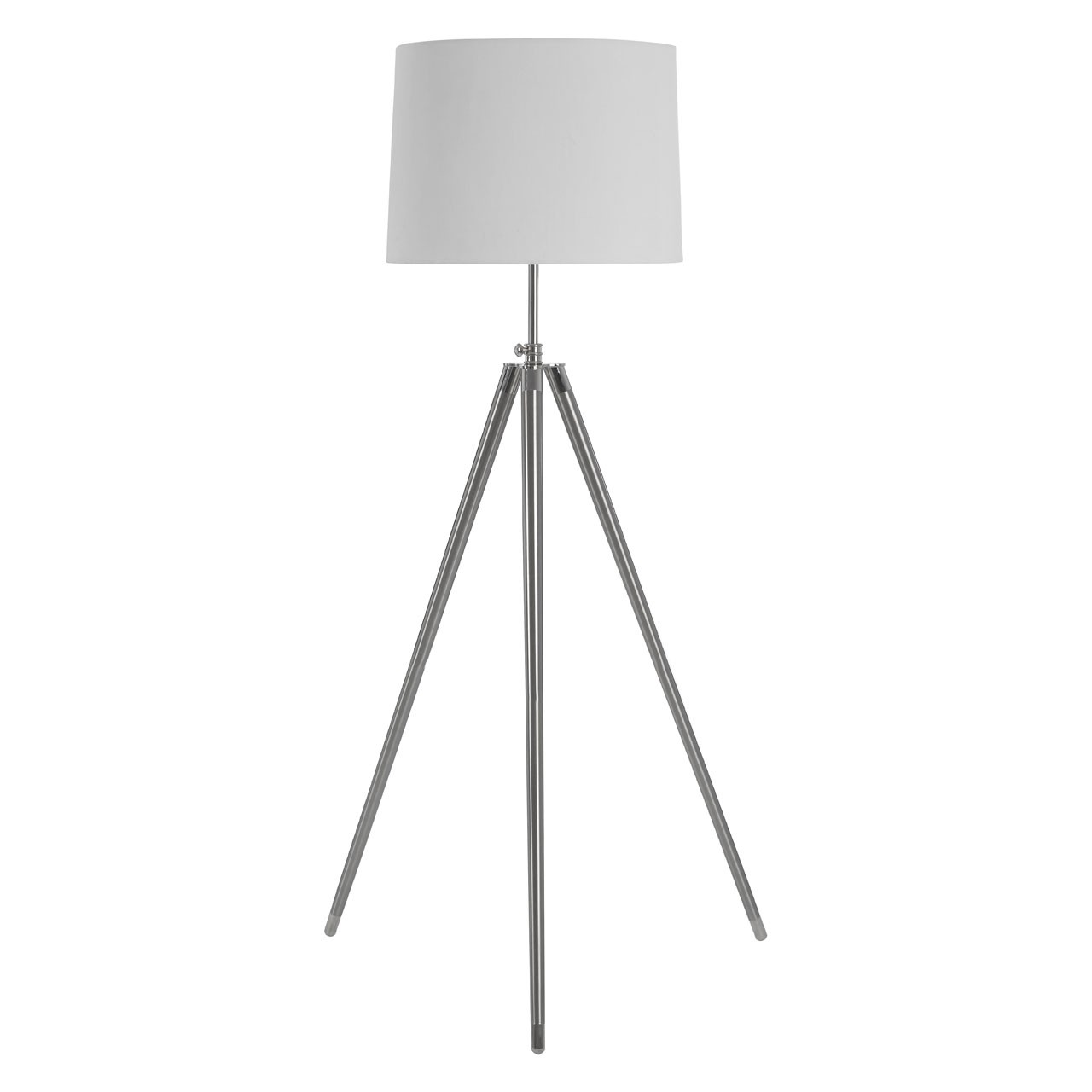 Unique Floor Lamp Incorporates Steel And Natural Fabric