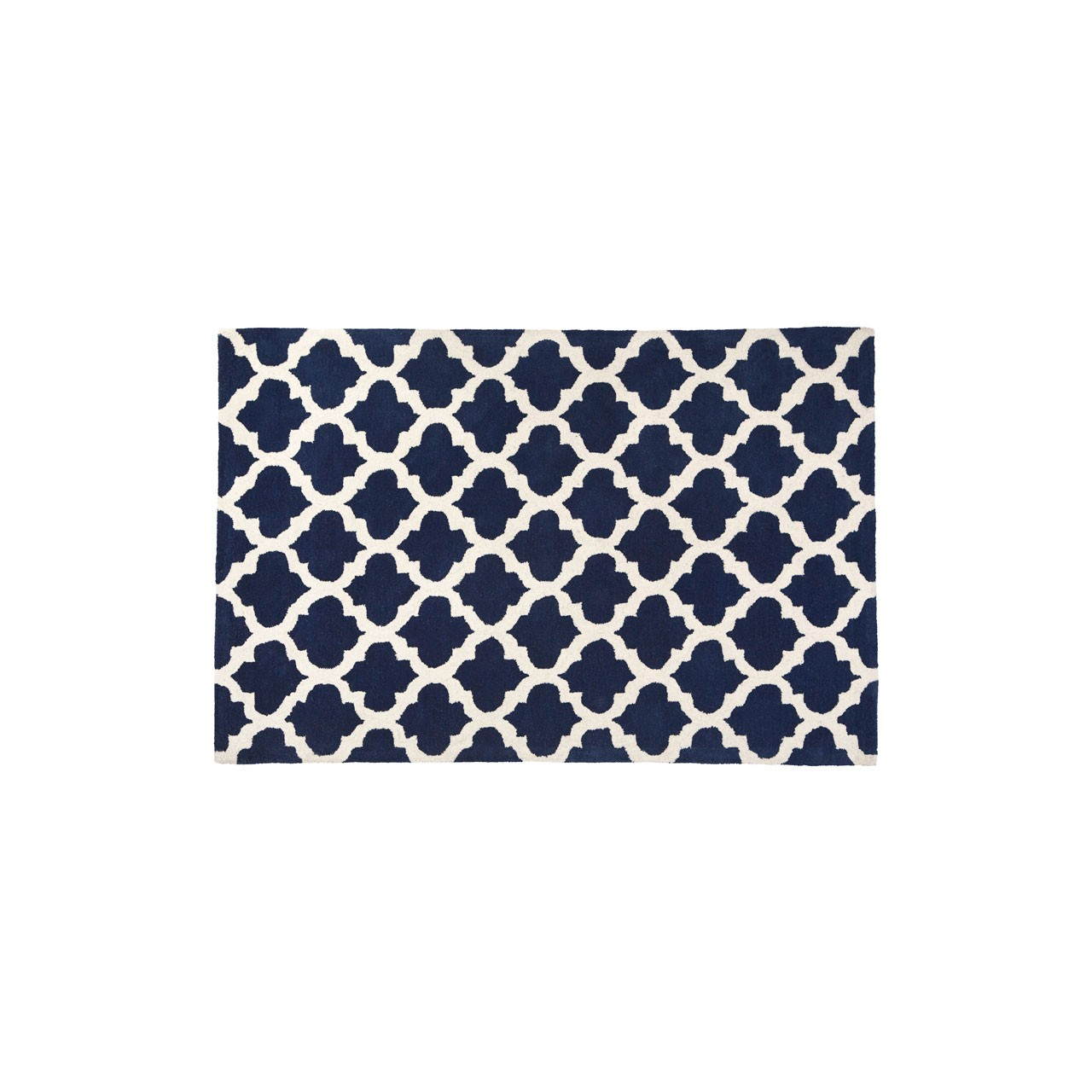Prime Furnishing Kensington Rug - Navy Blue/White