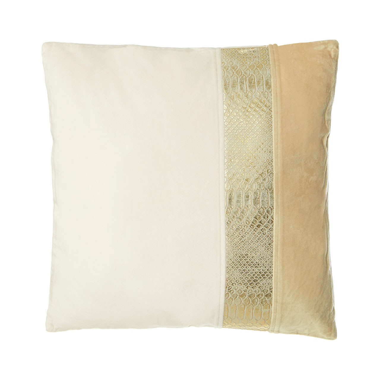 Prime Furnishing Kensington Townhouse Cushion, Velvet, Cream