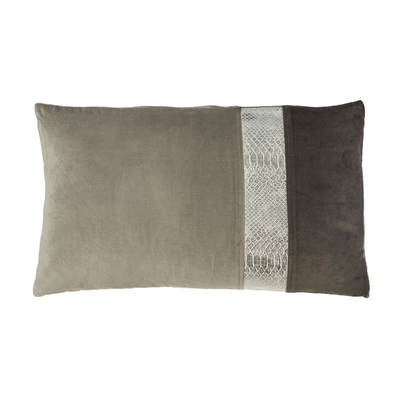 Prime Furnishing Kensington Townhouse Cushion, Velvet, Grey