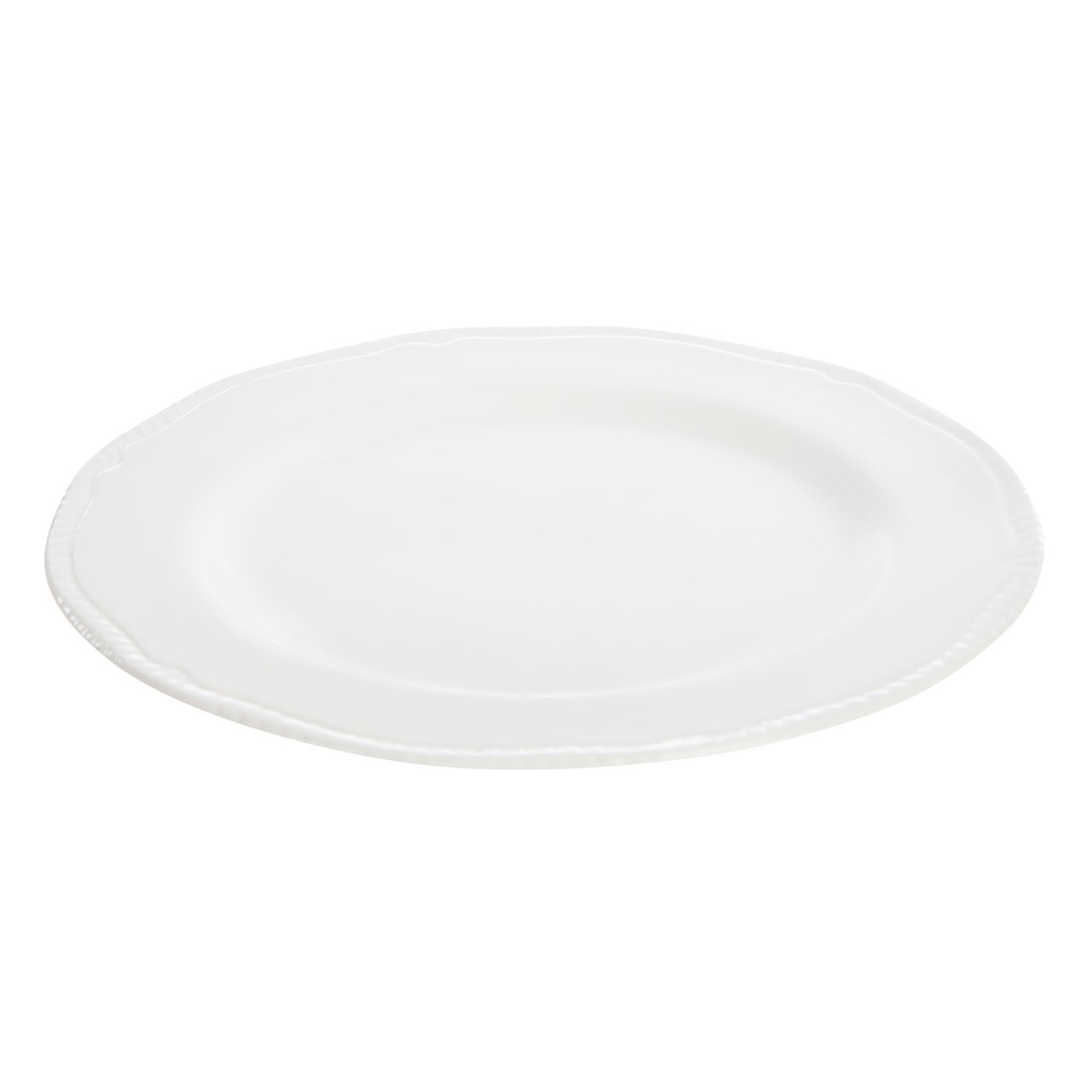 Plate Large Embossed White
